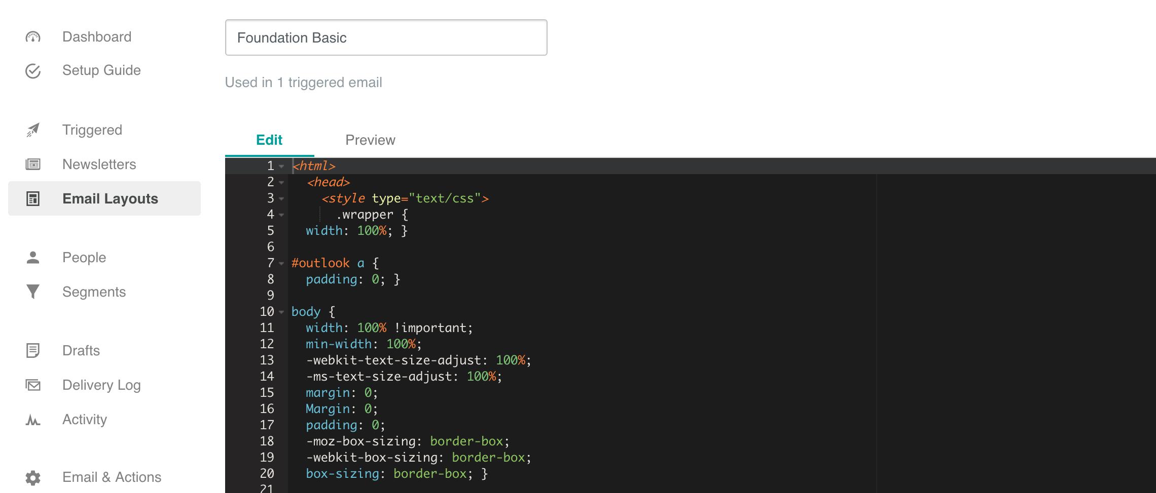 Adapting Foundation\'s Basic template | Customer.io
